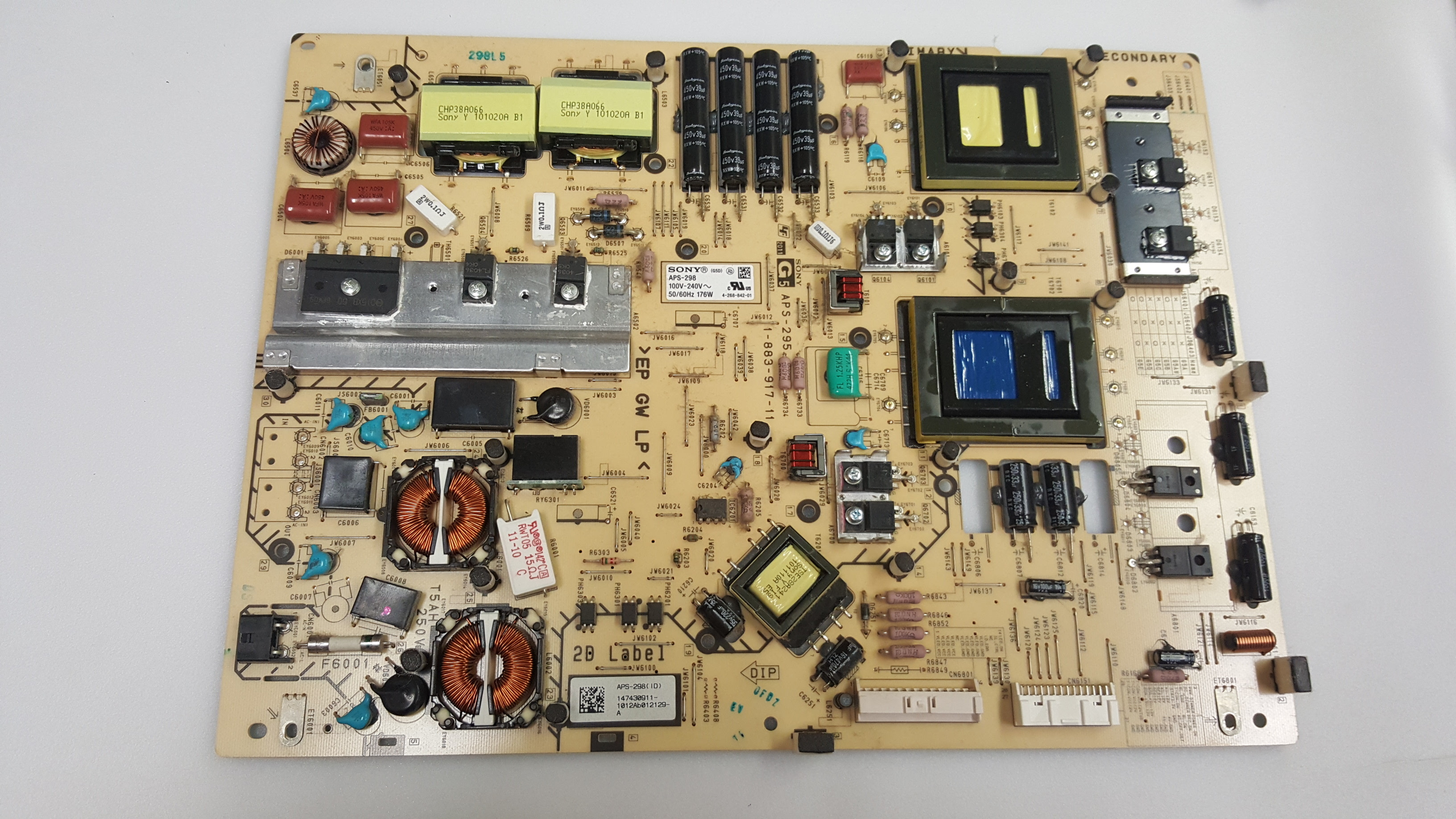 Sony 1-474-309-11 (APS-298, 1-883-917-11) G5 Board